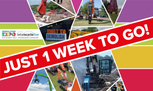 One week until Demolition Expo returns with a bigger show than ever